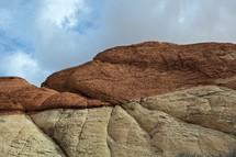 multi-layered red rocks