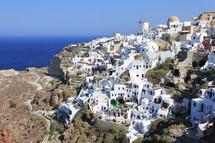 Homes on a Greek hillside