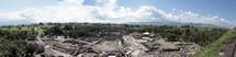 Panoramic of the ruins in Beth Shean Israel