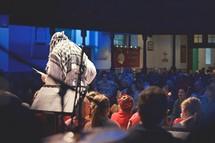 Christmas Pageant, Christmas, teen, Joseph, boy, costume, worship service, live nativity scene, children, choir