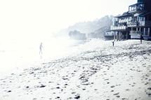 beach houses along a shore