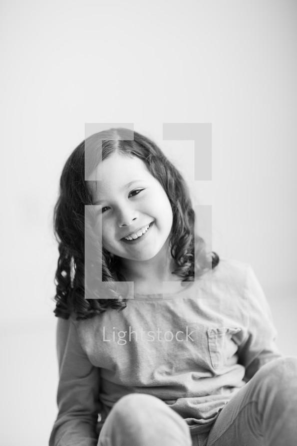 portrait of a smiling child