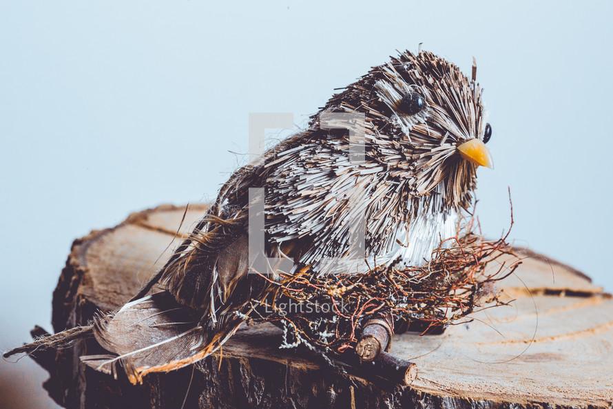 straw bird figurine