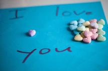 i love you, conversation hearts