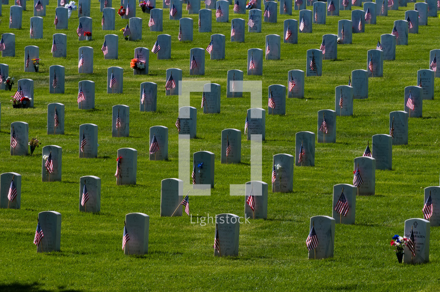 Graves at Fort Logan National Cemetery