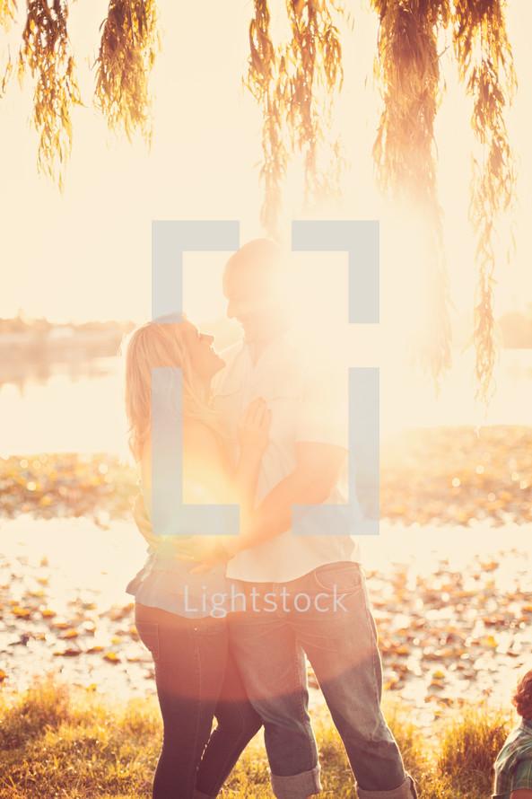 couple under intense sunlight