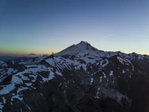 snow on rugged mountain peaks