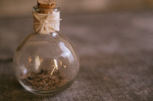 ashes in a jar
