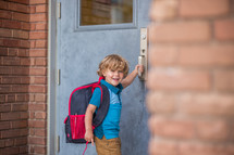 a child entering a school