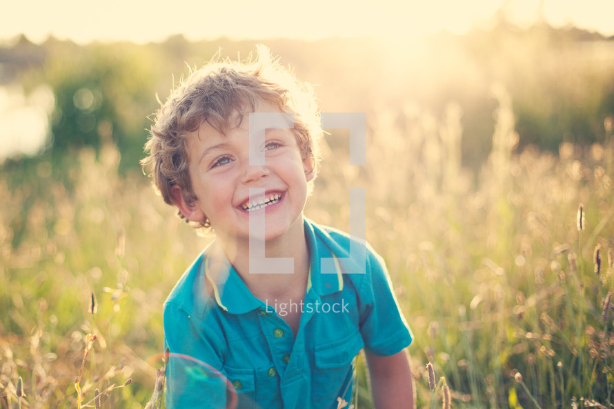 smiling toddler boy