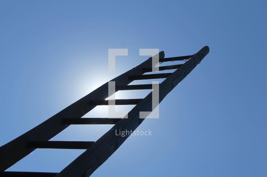 ladder reading towards the sky