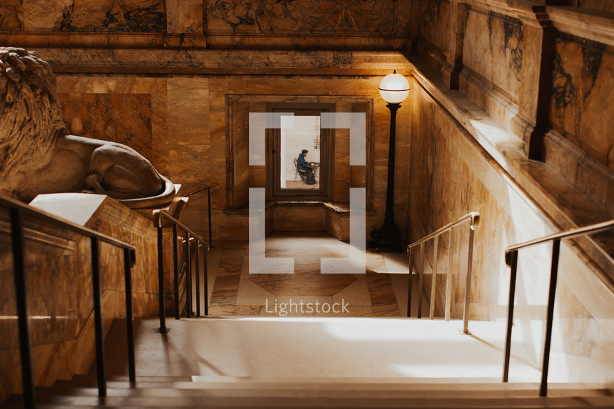 interior marble staircase