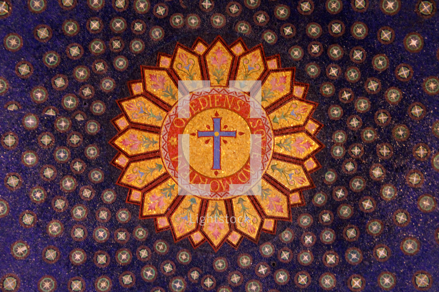 Ornate mosaic on the ceiling of the basilica    — Photo — Lightstock