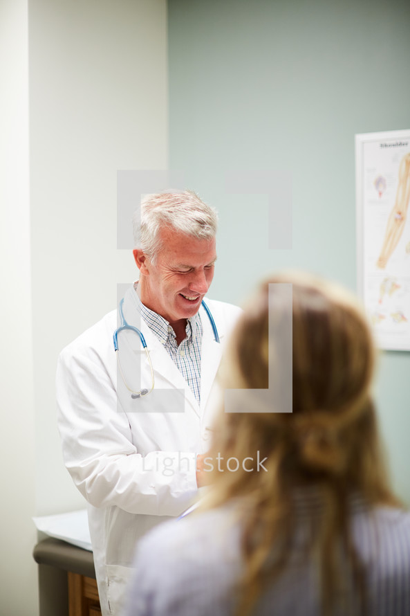 a man at the doctor's office