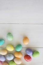 scattered Easter eggs