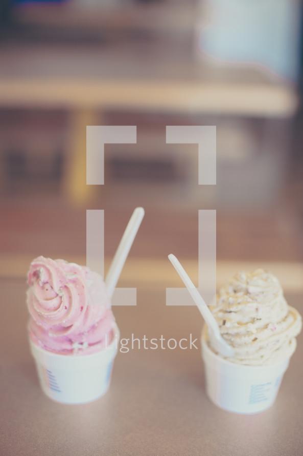 cups of ice cream