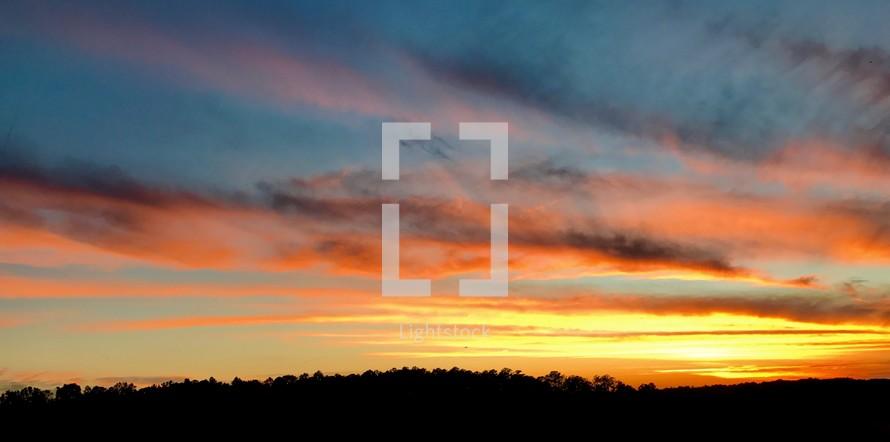 vibrant sky at sunset
