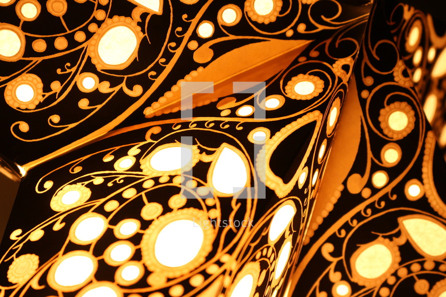 black, white, and gold pattern background