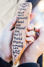 prayer on a stake for a ground breaking
