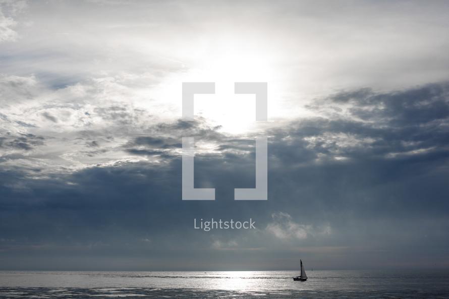 sailboat on a calm sea