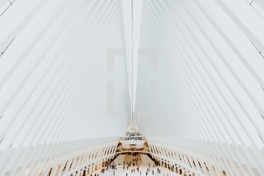 New York City building interior with unique architecture