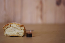 bread and wine for communion