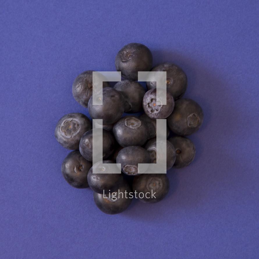 blueberries on purple