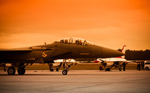 A fighter jet