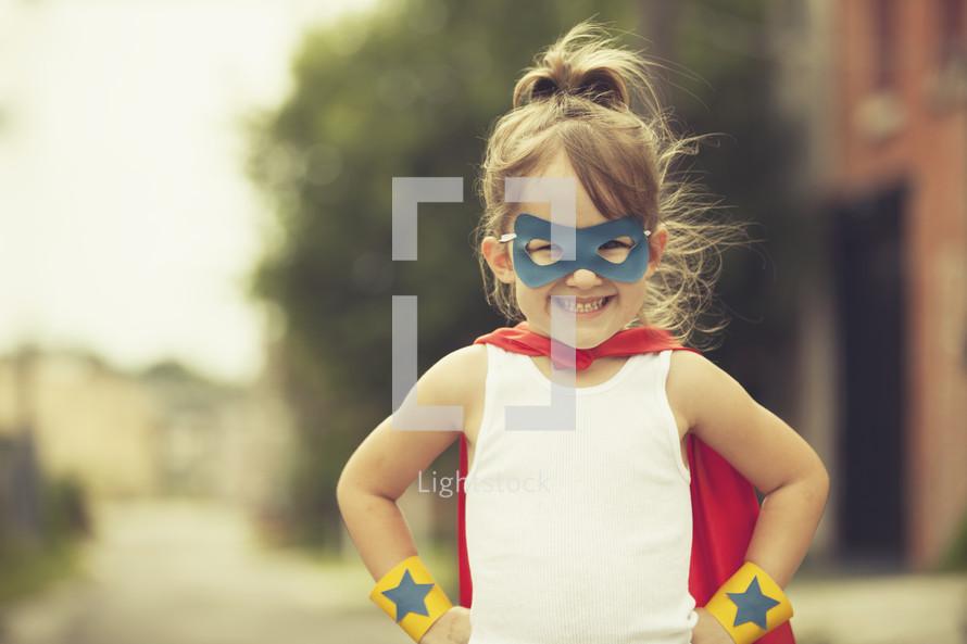 smiling superhero