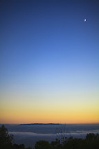 Horizon at sunset.
