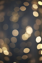 bokeh glowing strand of Christmas lights