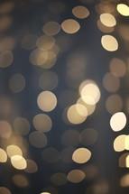 bokeh glowing strand of Christmas lights