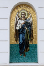 mosaic tile art of the angel Gabriel