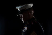 side profile of a marine