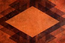 A grunge, orange background.