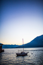 boat on the waters of Lake Como