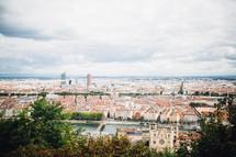 View of Lyon, France