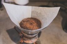 Coffee brewing in a chemex