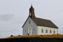Isolated Icelandic Church
