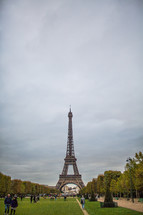 Eiffel Tower and park In Paris