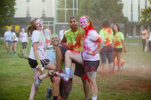teens after a color run