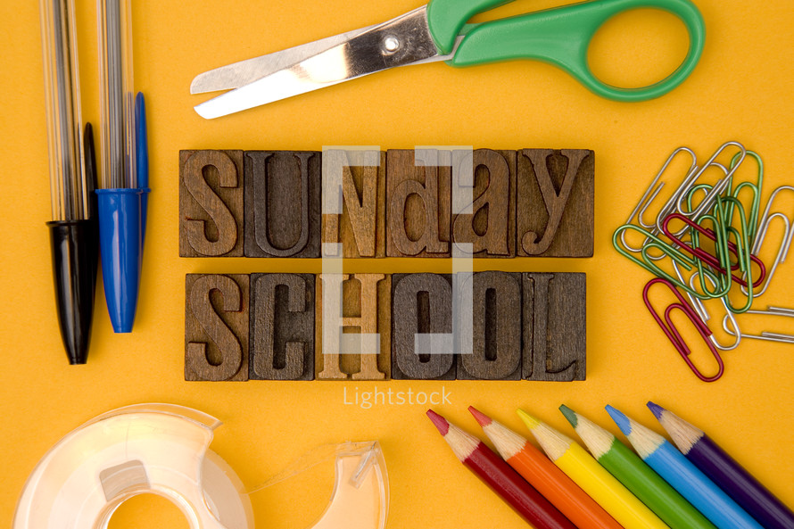 Sunday School with supplies