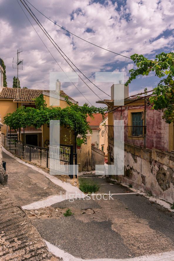 homes along narrow streets