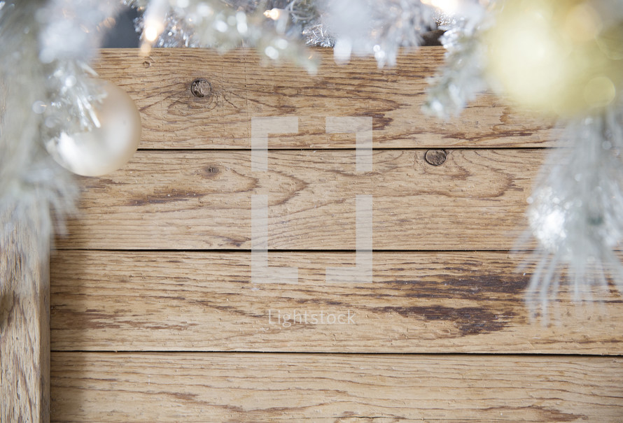 Silver christmas tree and wooden box tree stand u2014 photo by prixel