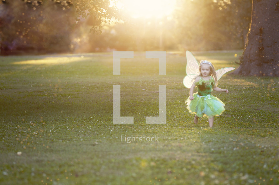 child in a fairy costume