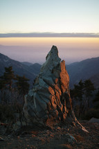 jagged rock peak