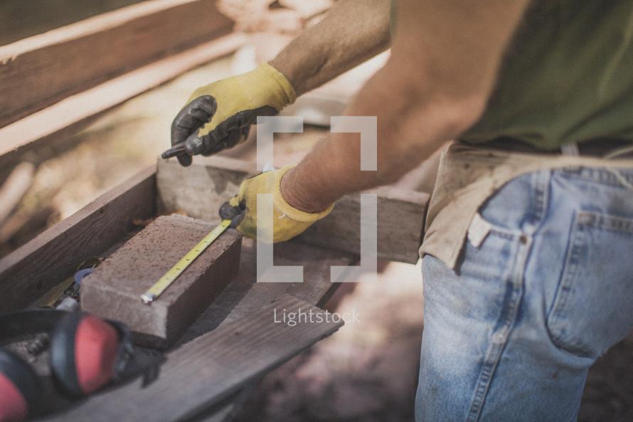 A man doing construction