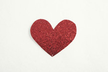 Red heart cutout.