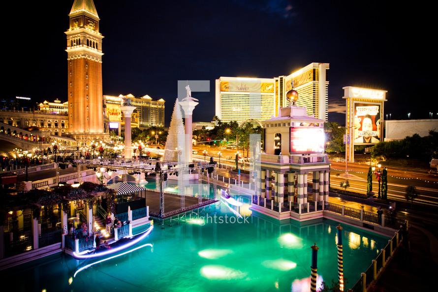 hotel pool on the Vegas strip