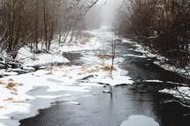 a snowy river